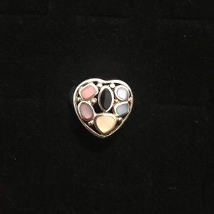 Jewelry - Colorful Sterling Silver Heart Ring